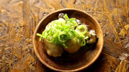 缶詰の空き缶で作る牡蠣のオリーブオイル焼き ネギポン酢かけ